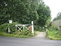 Remember the old level crossing gates^ - geograph.org.uk - 551302.jpg