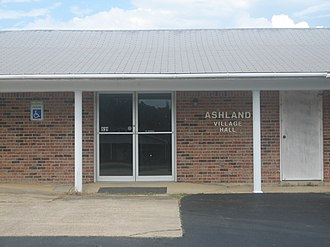 Ashland, Natchitoches Parish, Louisiana - Ashland Village Hall is located next to the United States Post Office building