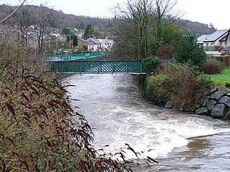 Rhymney River - The river as it passes through Machen