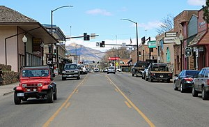 Rifle, Colorado - Railroad Avenue in Rifle, looking north.