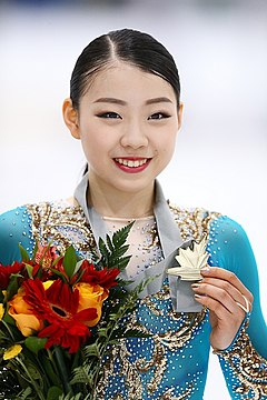 Rika Kihira at the 2019 Autumn Classic International - Awarding ceremony.jpg