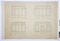 Ritningar, fastigheten nr 4 Hamngatan. Ritning till mueirum intill tavelgalleriet - Hallwylska museet - 105296.tif