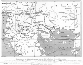 London Conference of 1912–13 - Rival territorial claims and proposals during the Conference