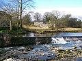 River Wharfe Weir from Linton Falls Bridge - geograph.org.uk - 437187.jpg