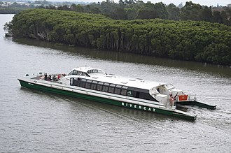 Parramatta River ferry services - Shane Gould in June 2014