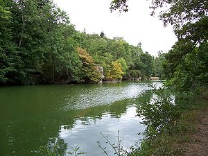Mayenne (river) - The Mayenne and Sainte-Apollonie Island near Entrammes