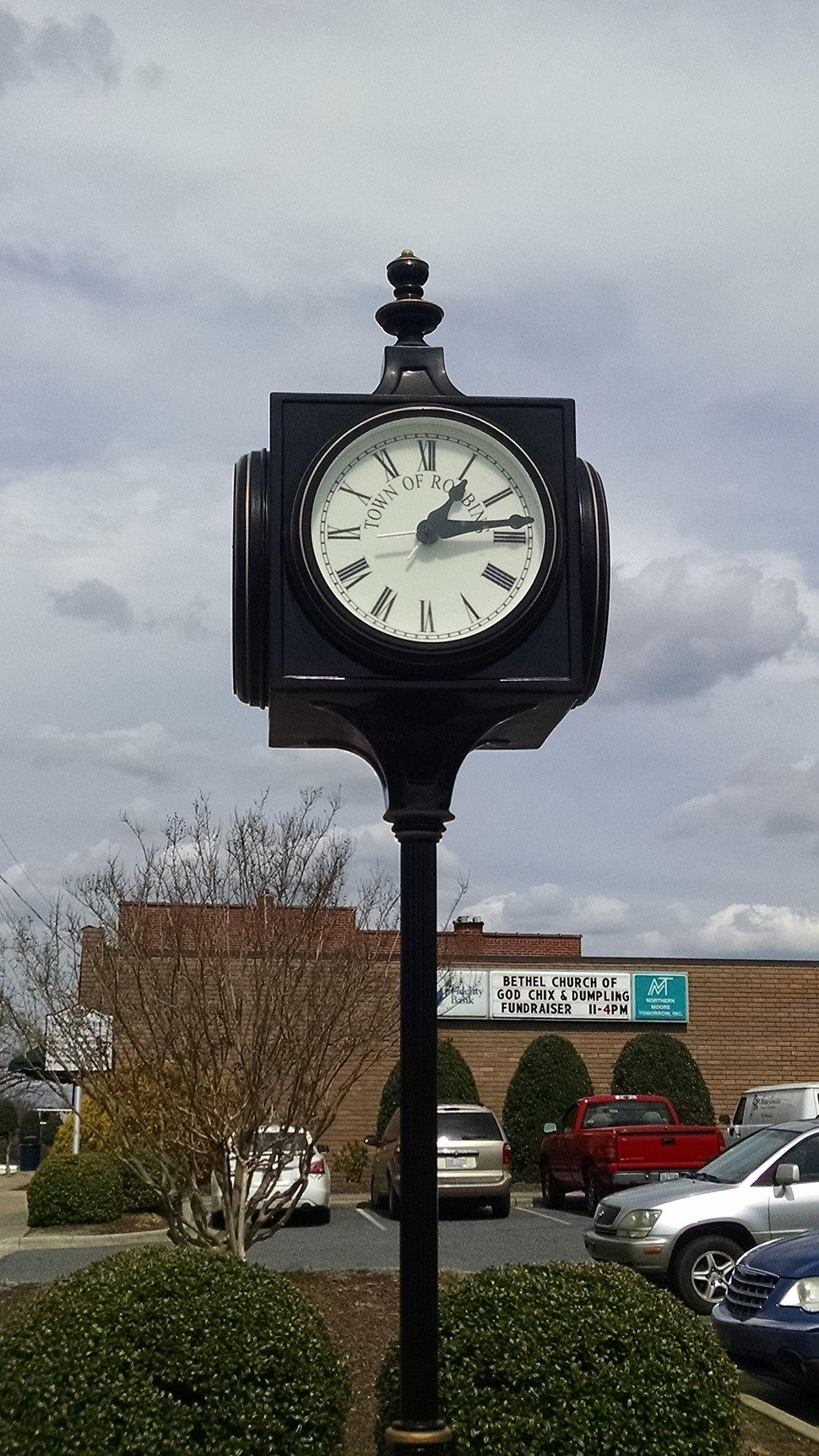 Robbins NC Clock