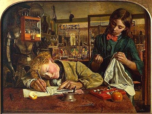 Robert Braithwaite Martineau (1826-1869) - Kit's Writing Lesson - T00011 - Tate