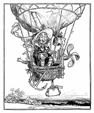 W. Heath Robinson - An illustration from The Adventures of Uncle Lubin (1902)