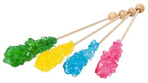 Supersaturation - The supersaturation of sugar in water allows for rock candy to form.