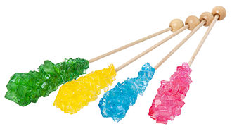 Confectionery - Rock candy is simply sugar with coloring or flavor added.