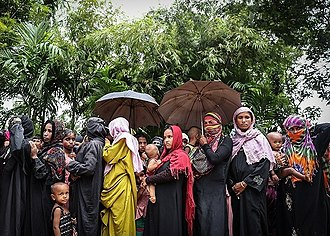 Persecution of Muslims in Myanmar - Rohingya refugees in Bangladesh, October 2017