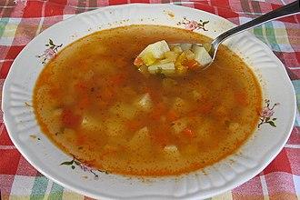 Romanian cuisine - Ciorbă de cartofi