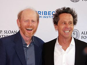Imagine Entertainment - Co-founders Ron Howard and Brian Grazer at a Tribeca Film Festival panel on A Beautiful Mind