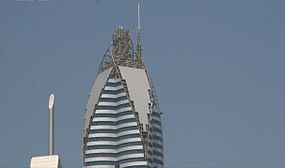 Rose Rotana Tower Under Construction on 25 February 2007 Pict 2.jpg