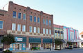 Row of buildings with Ritz, Waycross Historic District, GA, US.jpg