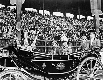 Queen's Official Birthday - King George VI in Ottawa, Ontario, on his official birthday, 1939