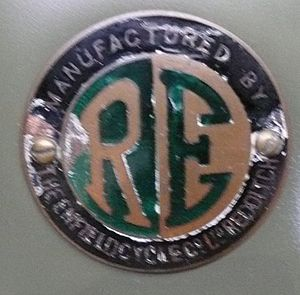 English: Royal Enfield motorcycle badge
