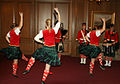 Royal Military College of Canada scottish highland dancers, piper, drummers.jpg