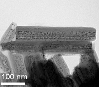 Ruthenium - Halloysite nanotubes intercalated with ruthenium catalytic nanoparticles.