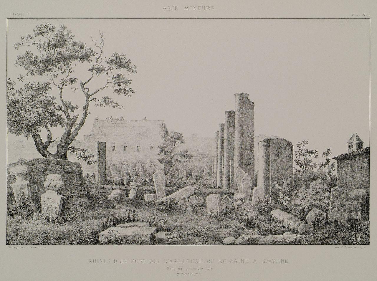 File Ruines D 39 Un Portique D 39 Architecture Romaine Smyrne