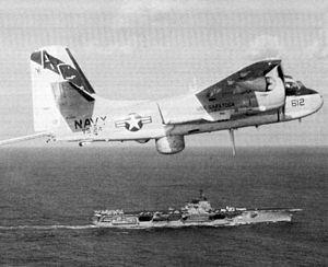 S-2G VS-24 over USS Saratoga (CVA-60) c1974.jpg