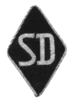 Tulle massacre - Insignia of the SD, sewn to the bottom of the left sleeve of the SS uniforms