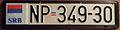 SERBIA, NOVI PAZAR, 2000's -LICENSE PLATE in FRAME WITH SERB FLAG - Flickr - woody1778a.jpg