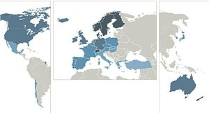Sustainable Governance Indicators - Image: SGI Status Index map