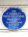 SIR CHARLES WHEATSTONE 1802-1875 Scientist and Inventor lived here.jpg