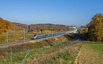 TGV - A TGV Duplex in Héricourt, Haute-Saône on the LGV Rhin-Rhône