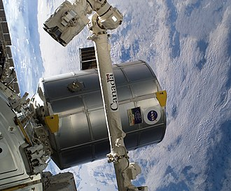 Multi-Purpose Logistics Module - MPLM attached to the ISS during STS-114