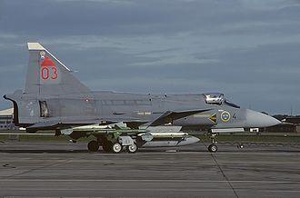 Saab 37 Viggen - JA 37 Viggen at the Royal International Air Tattoo 1993