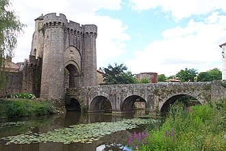 Parthenay - The Saint-Jacques Gate and Bridge, by which mediaeval pilgrims would have entered the town from the north