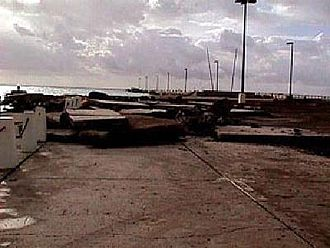 Hurricane Lenny - Damage to the Frederiksted Pier in St. Croix