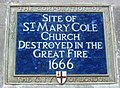 Saint Mary Cole plaque London.jpg