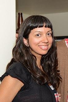 Saleema Nawaz at the Eden Mills Writers' Festival in 2013