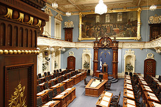Alured Clarke - The National Assembly of Quebec, formerly the Parliament of Lower Canada, first convened by Sir Alured Clarke in December 1792 (the painting in the background depicts one of the first sittings of the Parliament of Lower Canada in January 1793)