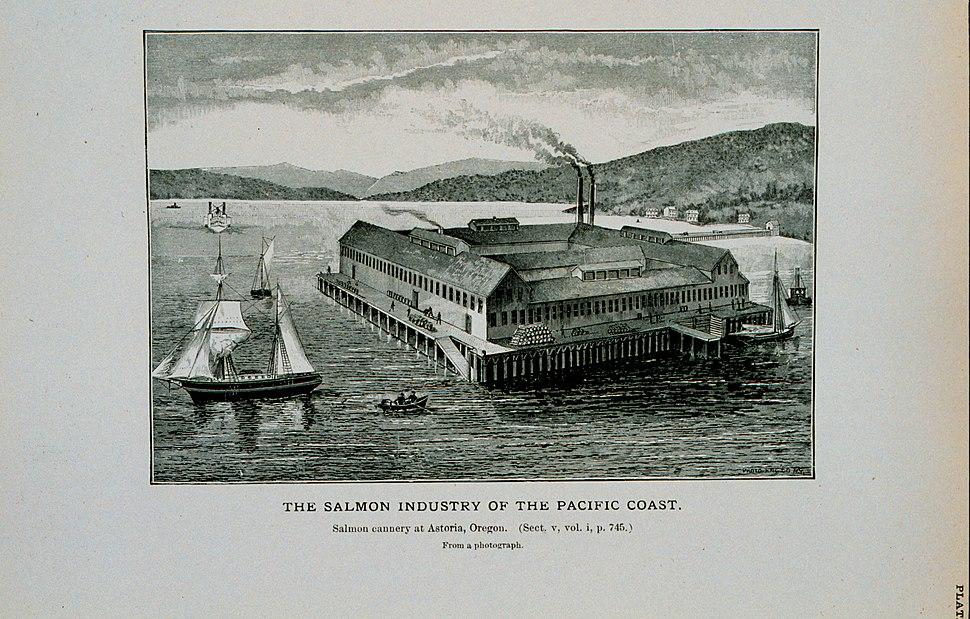 Salmon cannery at Astoria, Oregon