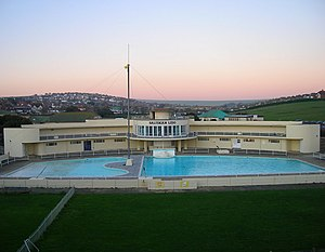 Saltdean Lido - The lido from the south