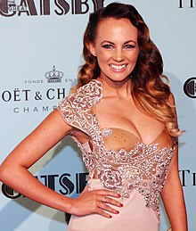 Samantha Jade at the Sydney premiere of The Great Gatsby in May 2013