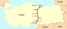 Location of Samsun–Ceyhan pipeline