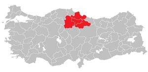 Samsun Subregion - Image: Samsun Subregion