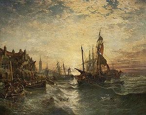 Samuel Bough - West Wemyss Harbour Fife.jpg