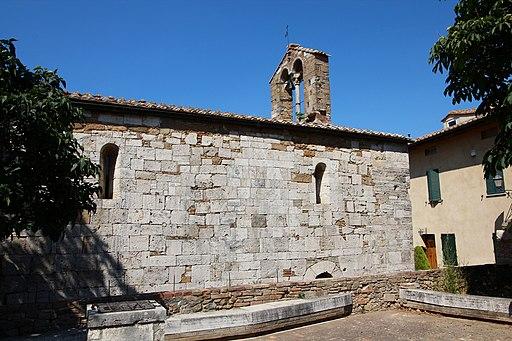 Chiesa Santa Maria Assunta, side wall, San Quirico d'Orcia