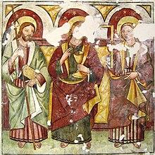 Affreschi del maestro Thanner nella chiesa di San Pelagio