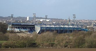 Val McDermid - Starks Park, the McDermid stand visible to the left.
