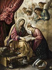 Saint Anna teaching the Virgin to read
