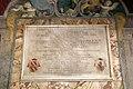 Santissima annunziata, secondo chiostro, lapide clemente X con san filippo benizi tra stemma medici+1, 03.jpg