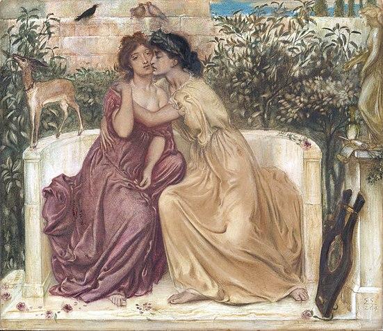 Safo i Erinna en el jardí de Mitilene,